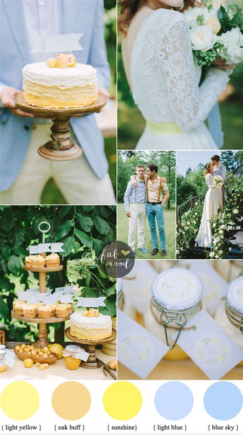 blue wedding color schemes blue and yellow wedding color schemes garden wedding