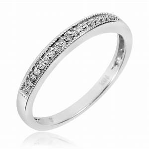 1 2 carat tw diamond trio matching wedding ring set 14k With matching wedding rings white gold
