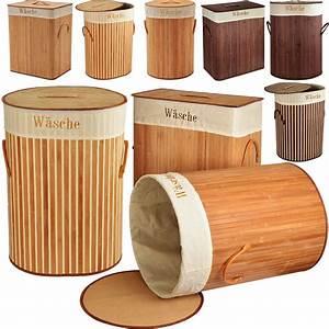 Panier à Linge Bambou : panier corbeille linge en bambou rangement 100l ~ Dailycaller-alerts.com Idées de Décoration