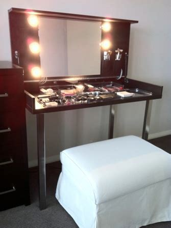 modern hideaway dressing table ikea hackers