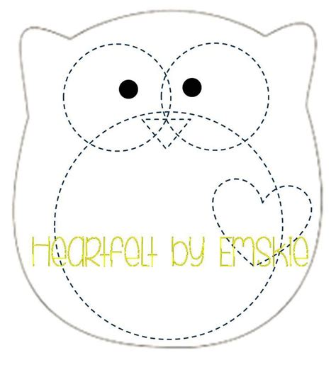 Felt Plushie Templates by Plushie Owl Template Felt Sewing
