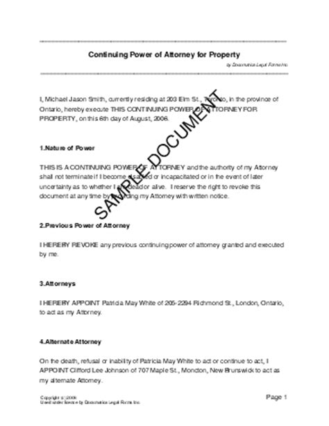 power  attorney template real estate forms