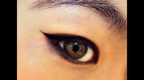 everyday makeup winged eyeliner tutorial asian eyes youtube