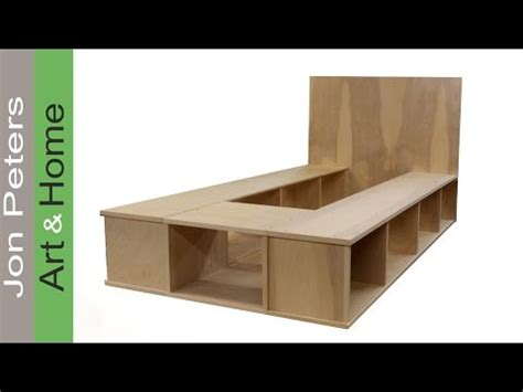 Ikea Queen Loft Bed by Build A Platform Bed With Storage Part 1 Youtube