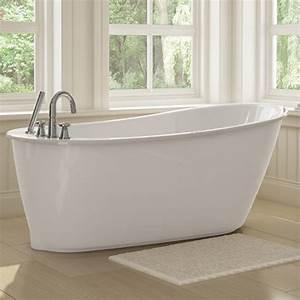 Sax Freestanding Soaker Tub w/White Apron by Maax