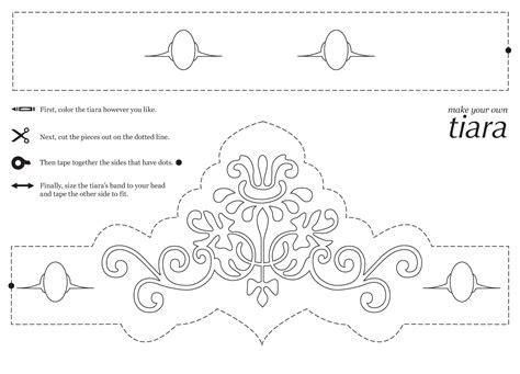 tiara template rebekah grace easy princess crafts