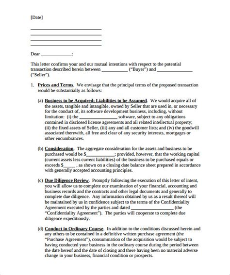 business letter  intent word   premium