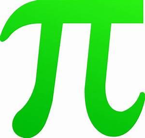 Green Pi Symbol - Free Clip Art