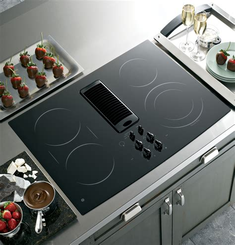 cooktop ge downdraft electric glass kitchen appliances series range cooktops gas cook inch draft exhaust built induction smooth ceramic surface