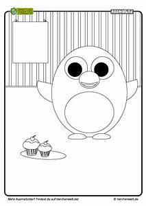 Malvorlage Pinguin Muffins