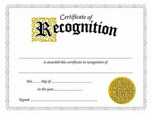 certificate of recognition certificate template With free template for certificate of recognition