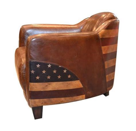 fauteuil cigare cuir vintage usa