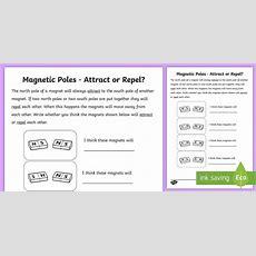 Magnet Poles Attract Or Repel Worksheet  Magnet, Poles, Attract, Repel
