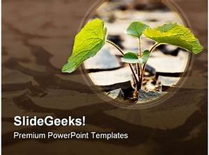 Technology Roadmap Powerpoint Template Drought Plant Nature Powerpoint Template 0810 Templates
