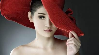 Hat Sombrero Rojo Paja Models Portrait Hats