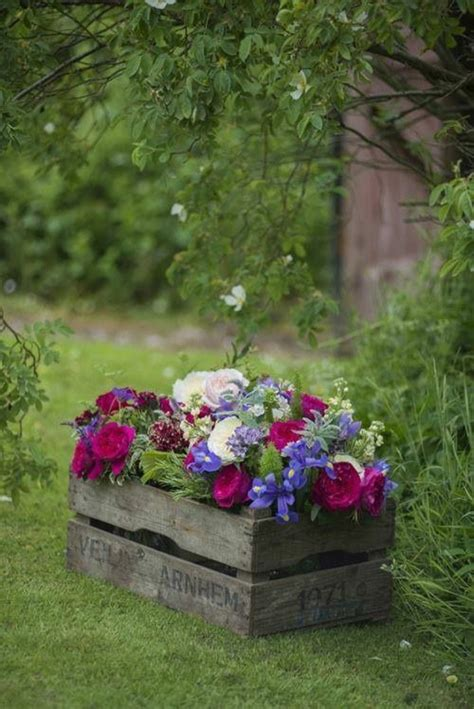 Planting Box Wood  Beautiful Plants Containers As