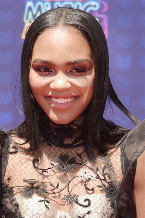 china anne mcclain straight black flat ironed hairstyle