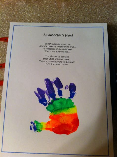 grandchilds hand poem  handprint grandparent gifts