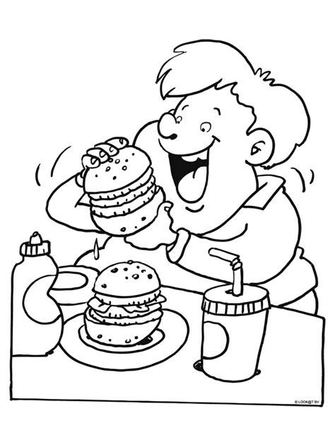 Kleurplaat Koekje Eten by Kleurplaat Hamburgers Eten Kleurplaten Nl