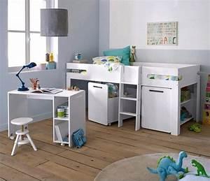 Lit Mi Hauteur Avec Rangement : quel lit mezzanine lit hauteur enfant choisir ~ Premium-room.com Idées de Décoration