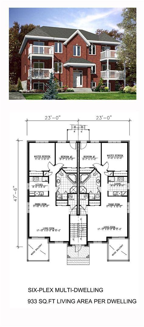 multi family plan bed bath apartment floor plans family house plans