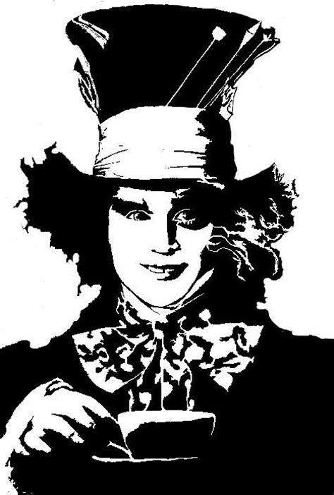 mad hatter stencil related keywords suggestions mad