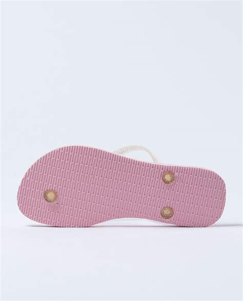havaianas slim frozen pearl pink thongs girls ozmosis