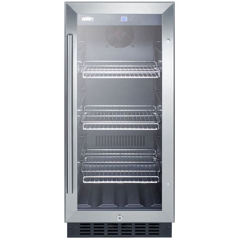 Cabinet Beverage Cooler by Summit Scr1536bg Beverage Refrigerator Black Stainless