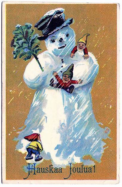 Snowman Clip Clipart Postcard Graphics Finland Darling