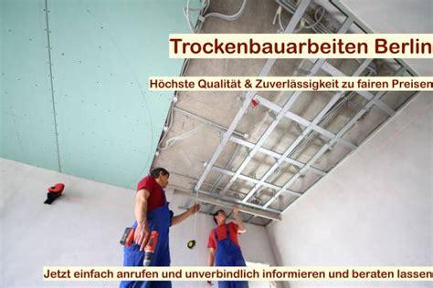 Trockenbau Decke Abhängen  Trockenbau Berlin