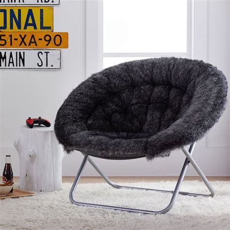 Baloo Faux Fur Hang A Round Chair PBteen