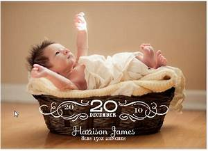 Vintage Baby Birth Announcements by Oscar & Emma at Minted
