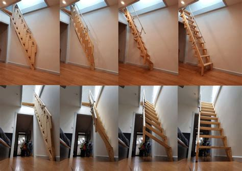Foldable Stairs Industrial Designer by Bcompact S Hybrid Stairs Fold Flat To Provide More Living