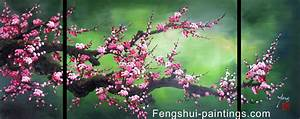 Chinese Feng Shui Painting, Chinese Cherry Blossom ...