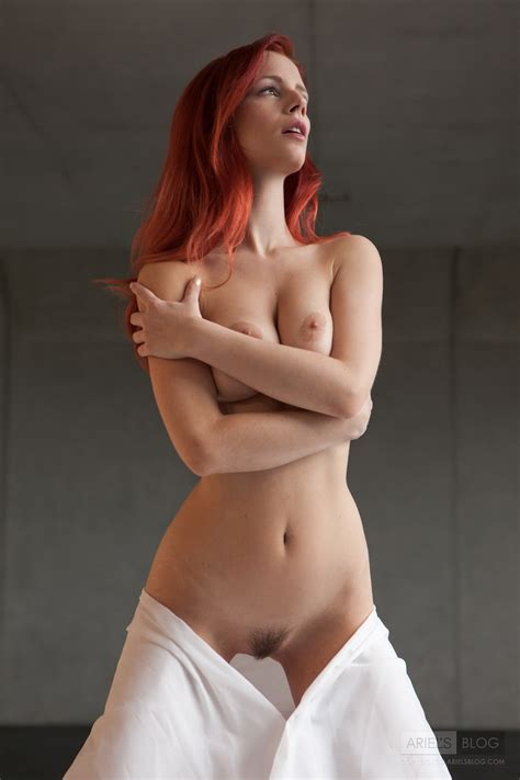 Amazing Redhead With Natural Tits And A Trimmed Pussy