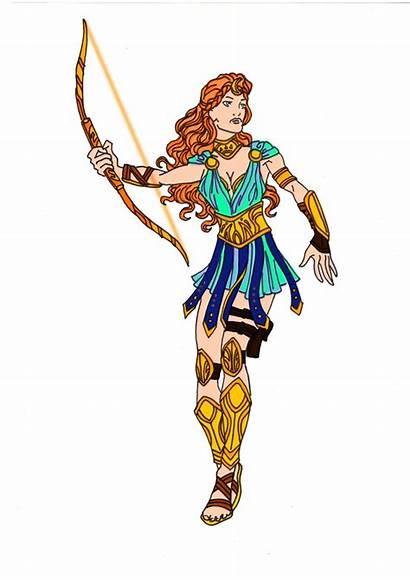 Artemis Goddess Hunt Mythology Clipart Greek Deviantart