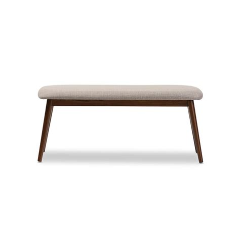 Fabric Bench by Mid Century Wood Fabric Bench Modern Furniture