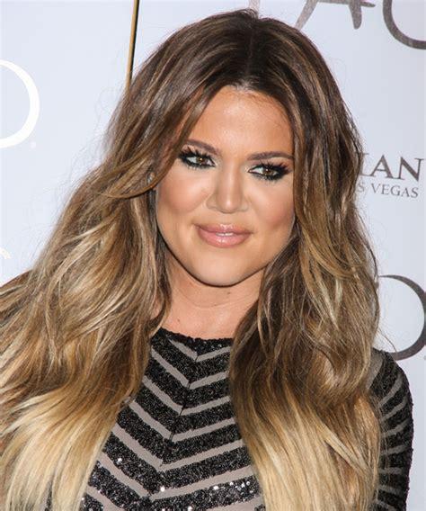 Khloe Kardashian Long Straight Light Brunette Hairstyle ...