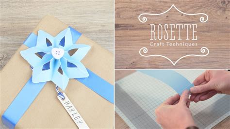 paper rosette craft techniques youtube