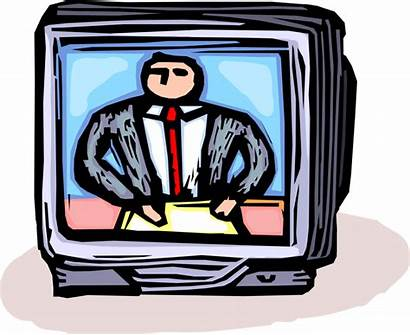 Clipart Anchor Television Transparent Anchorman Vector Tv