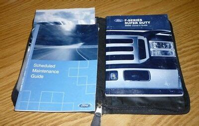 ford  super duty owners manual set  guide