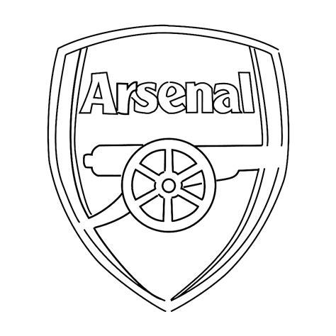 Kleurplaat Arsenal leuk voor logo arsenal