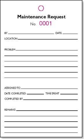 maintenance request form templates  sample templates