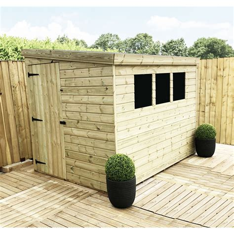 8 x 5 shed 8 x 5 pressure treated pent shed