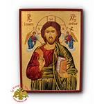 Nioras Icons Icon Byzantine Wood Natural Pantokrator