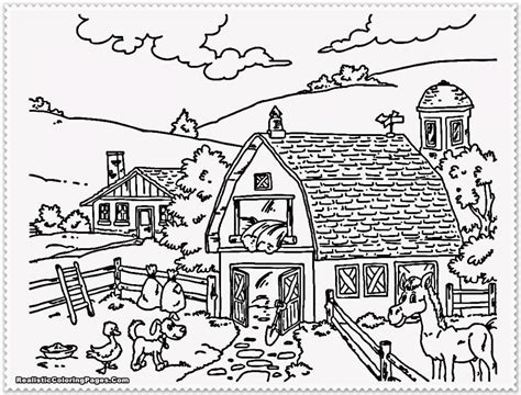 HD wallpapers farm landscape coloring page