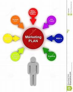 Marketing Plan Circle Bubble Chart Diagram Stock Illustration