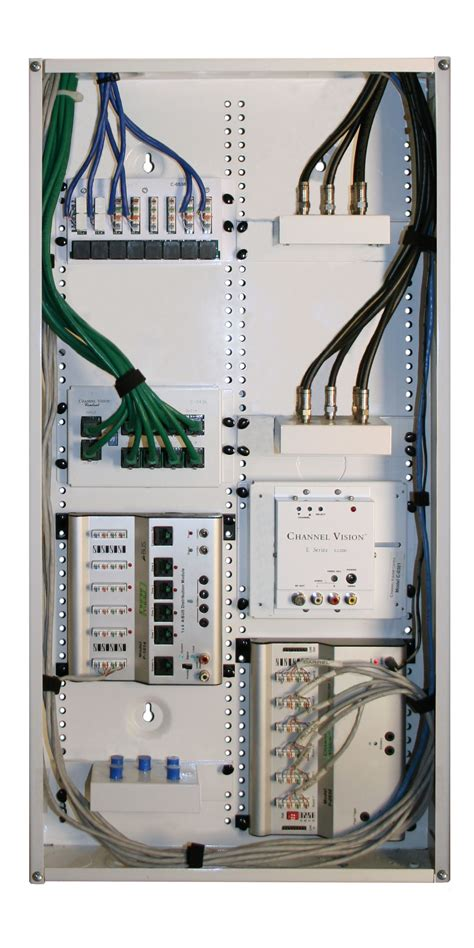 Structured Wiring Cable Distribution Panel For Home