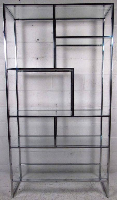 chrome kitchen cabinets midcentury milo baughman chrome and glass etagere for 2198