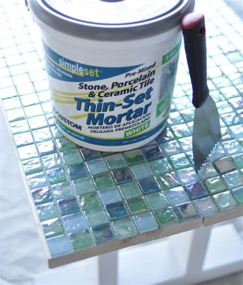 Thinset For Glass Mosaic Tile by Diy Tile Outdoor Table Centsational